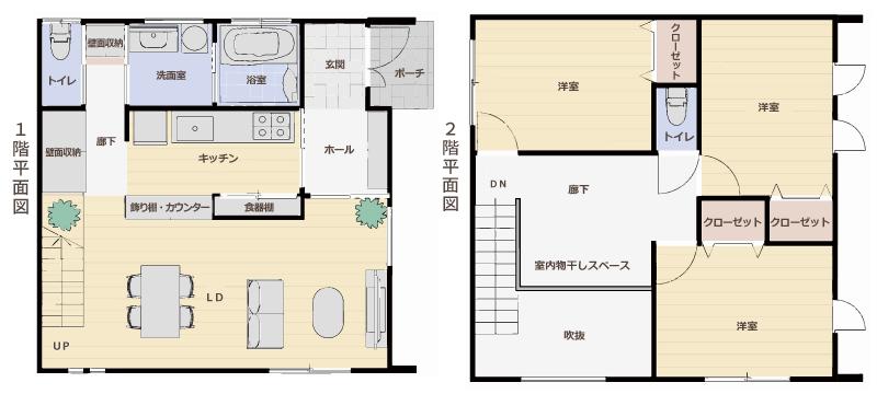50歳を過ぎてから考える安心の家、平面図