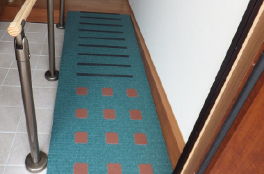 玄関土間にスロープ設置