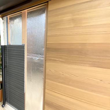 外壁、サイディング、ウレタン遮熱工法にて施工