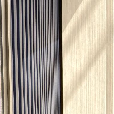 モデルルーム、外壁ガルバリウム鋼板にて施工