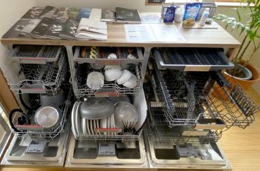 モデルルーム、海外食洗機展示