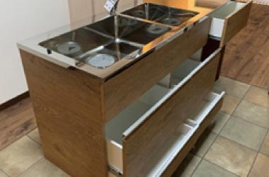 システムキッチン2層シンク