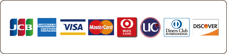 各種カードでのお支払いが可能です