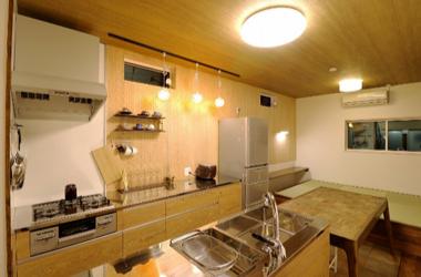 大型リフォーム、対面型オリジナルキッチン
