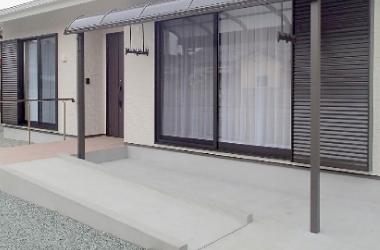 新築建て替え、KB様邸、玄関スロープ