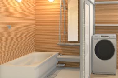 タイル張りのお風呂と洗面室をフルリフォームプラン